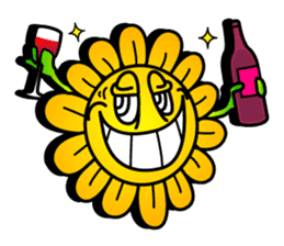 "Happy Flower ""PoPo"" sticker #1108977"
