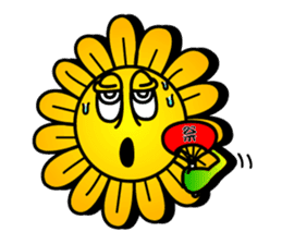 "Happy Flower ""PoPo"" sticker #1108979"
