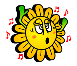 "Happy Flower ""PoPo"" sticker #1108981"