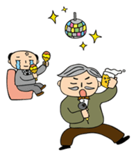 Middle-aged man sticker #1109789