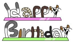 A happy day of Nyappi(English Version) sticker #1110605