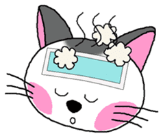 A happy day of Nyappi(English Version) sticker #1110606