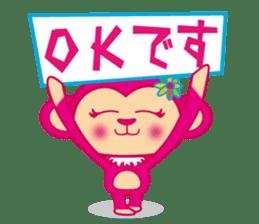 monnkichi & mokiko stiker sticker #1112817