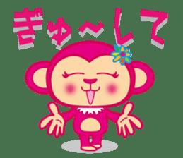 monnkichi & mokiko stiker sticker #1112819