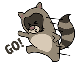 Little Racoon.... sticker #1115425