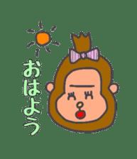 cute chimpanzee sticker #1119266