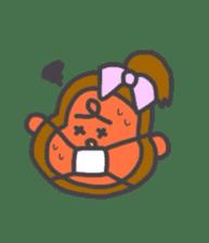 cute chimpanzee sticker #1119270