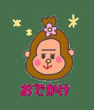 cute chimpanzee sticker #1119272