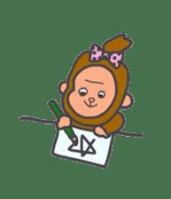 cute chimpanzee sticker #1119274