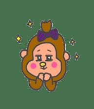 cute chimpanzee sticker #1119277