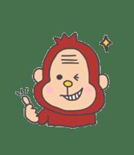 cute chimpanzee sticker #1119278