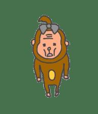 cute chimpanzee sticker #1119279