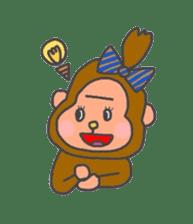 cute chimpanzee sticker #1119283
