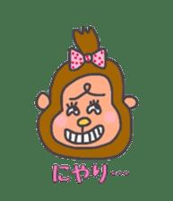 cute chimpanzee sticker #1119284