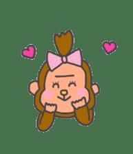 cute chimpanzee sticker #1119285