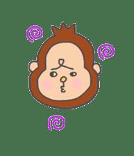 cute chimpanzee sticker #1119289