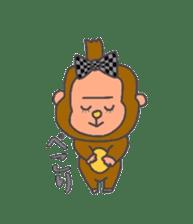 cute chimpanzee sticker #1119291