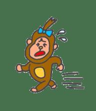 cute chimpanzee sticker #1119295