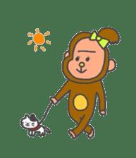cute chimpanzee sticker #1119297