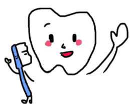 tooth & toothbrush sticker #1120946