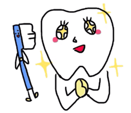 tooth & toothbrush sticker #1120948