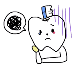 tooth & toothbrush sticker #1120949