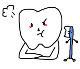 tooth & toothbrush sticker #1120952
