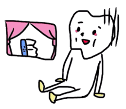 tooth & toothbrush sticker #1120953