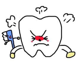 tooth & toothbrush sticker #1120954