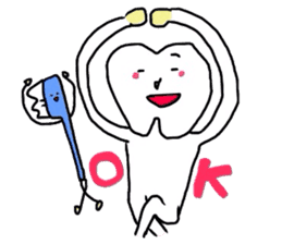 tooth & toothbrush sticker #1120955