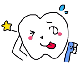 tooth & toothbrush sticker #1120959