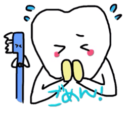 tooth & toothbrush sticker #1120963