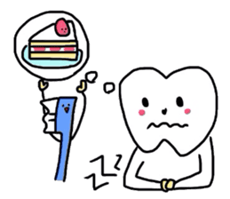 tooth & toothbrush sticker #1120966