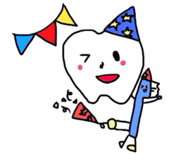 tooth & toothbrush sticker #1120970