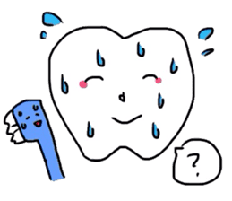 tooth & toothbrush sticker #1120976