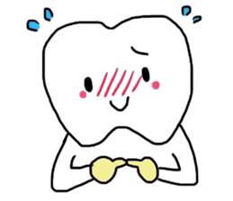 tooth & toothbrush sticker #1120977