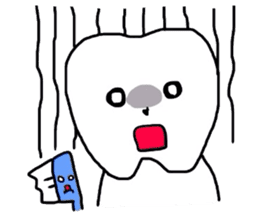 tooth & toothbrush sticker #1120978