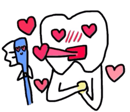 tooth & toothbrush sticker #1120982