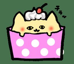 Cup Cake Cat sticker #1121276
