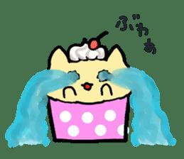 Cup Cake Cat sticker #1121282