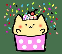 Cup Cake Cat sticker #1121295