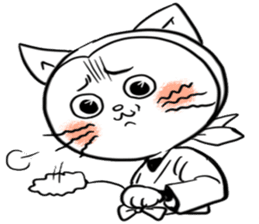 Iga Ninja cat Kotaro sticker #1124660
