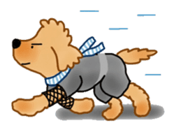 Doggy ninja 'Puu' sticker #1125109