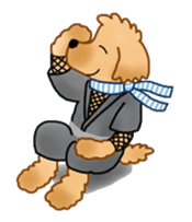 Doggy ninja 'Puu' sticker #1125115