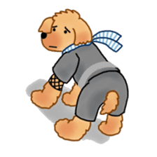 Doggy ninja 'Puu' sticker #1125133