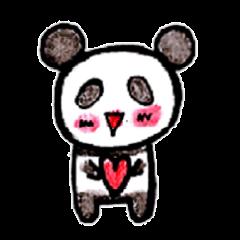 sticker of the PANDA