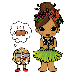 Hawaiian Hula girl Plumeria 2