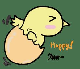 Chick-egg sticker #1130453