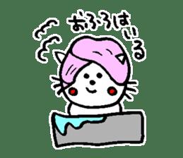 Cat, daily life of Mameko sticker #1131747
