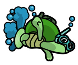 Rabbit and Turtle sticker #1133299